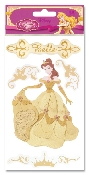 Disney Enchanted Tales Dimensional Gold Belle Sticker