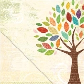 LYB Hello Fall, Autumn Tree Printed Paper